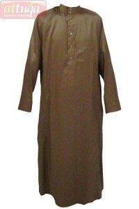 Jubah Saudi Al Haramain Warna Cokelat Muda